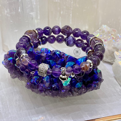 Super 7 Amethyst Wrap Bracelet