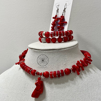 Red Coral Choker