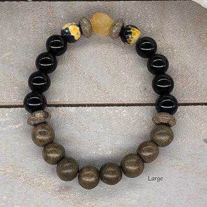 Peru Amazonite & Agate Stretch Bracelet