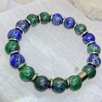 Lapis Lazuli Chrysocolla Bracelet