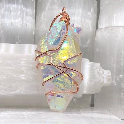 Angel Aura Quartz Remnant on Copper