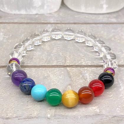 Sahasrara Chakra II Rainbow Hematite Stretch