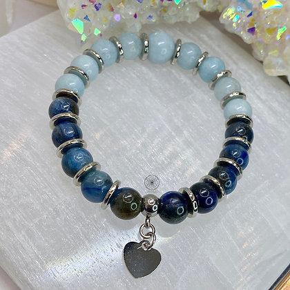 Aquamarine Blue Apatite Bracelet