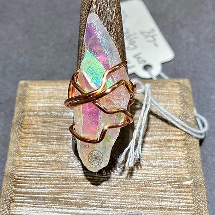 Aura Quartz Copper Ring