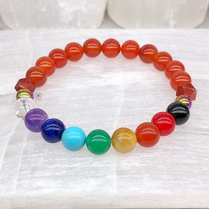 Svadhishthana Chakra Rainbow Hematite Stretch Bracelet