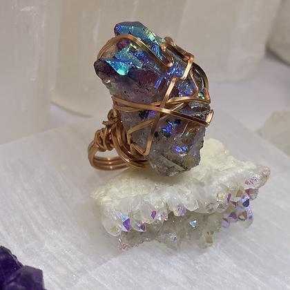 Angel Aura Amethyst Ring