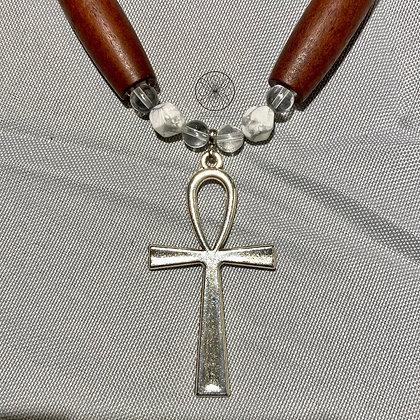 Howlite Ankh Necklace