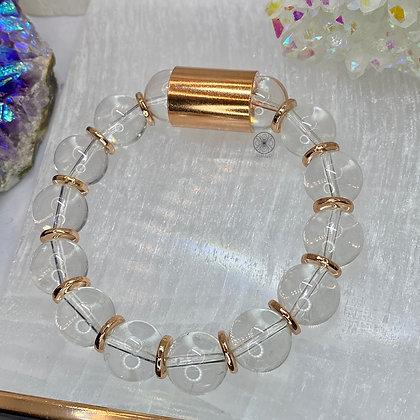 Clear Quartz Copper Bracelet