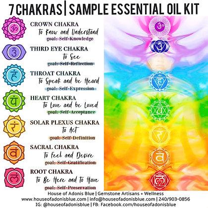7 Chakras Sample Essential Oil Kit