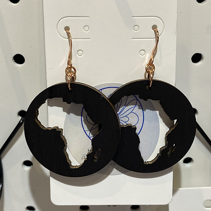 Africa Circle Earrings Small