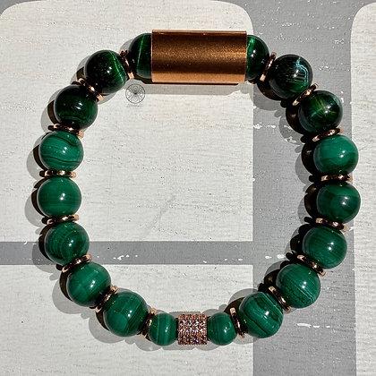 Malachite Tiger's Eye Pavé Bracelet