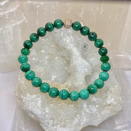 Malachite Jade Pavé Bracelet