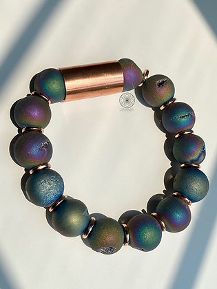 Flame Aura Druzy Bracelet