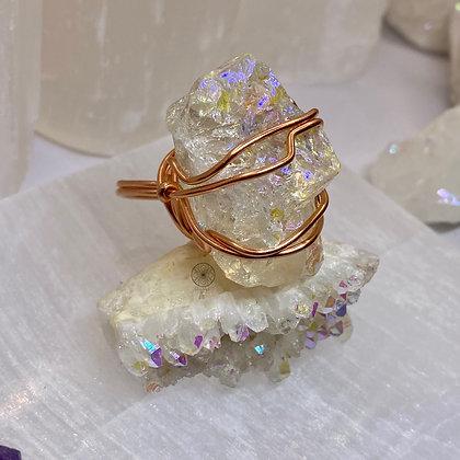 Angel Aura Quartz Ring