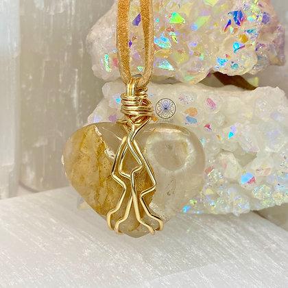 Golden Healer Heart Pendant