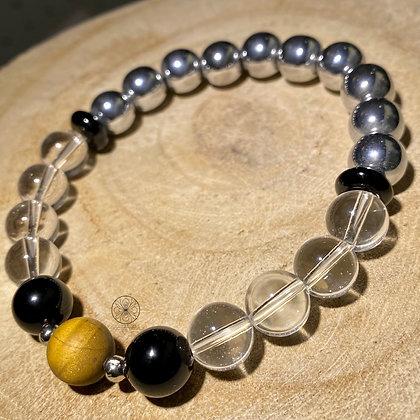 Clear Quartz Hematite Bracelet