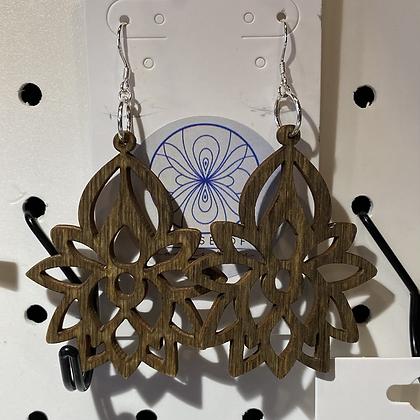 Sterling Lotus Flower Earrings