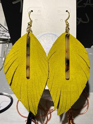 Pistachio & Tortoise Resin Earrings