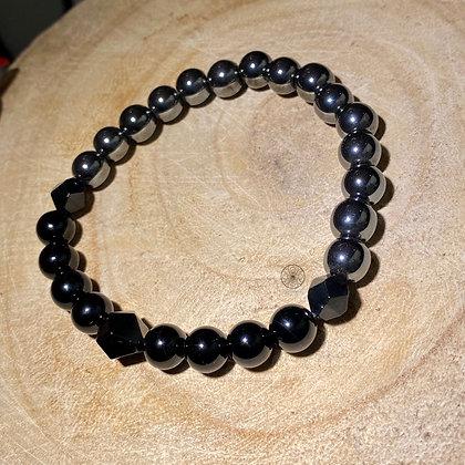 Hematite Black Onyx Bracelet