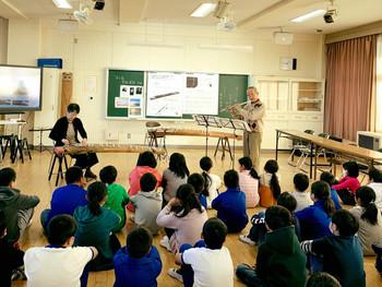 邦楽器鑑賞&体験教室@相馬市立飯豊小学校