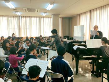 テノール歌手の佐野さんとの合同練習