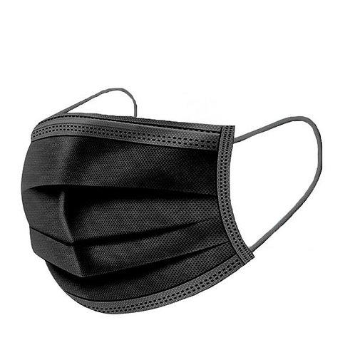Black 3-Ply Mask box of 50