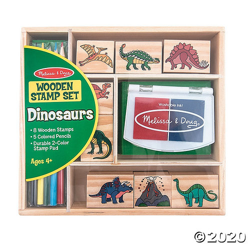 Wooden Stamp Set Dinosaurs