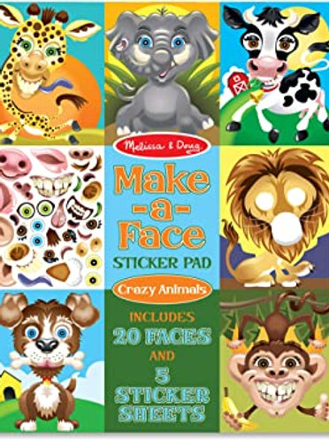Make a Face Animal Sticker Pad