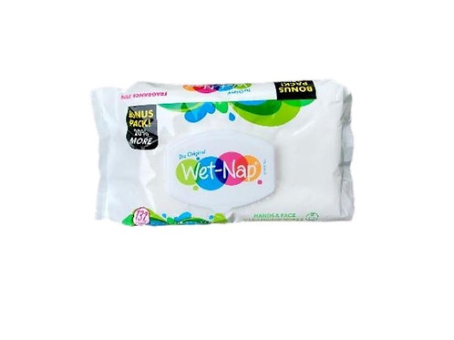 132ct Wet-Nap Hand & Face wipes