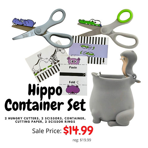 Hippo Container Scissor Set
