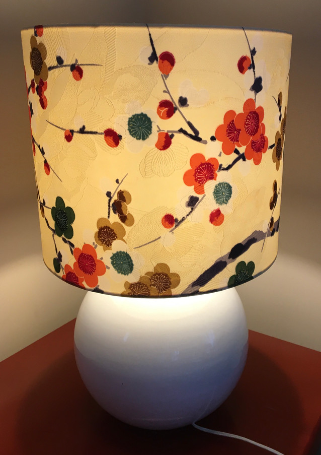 cream blossom silk lampshade