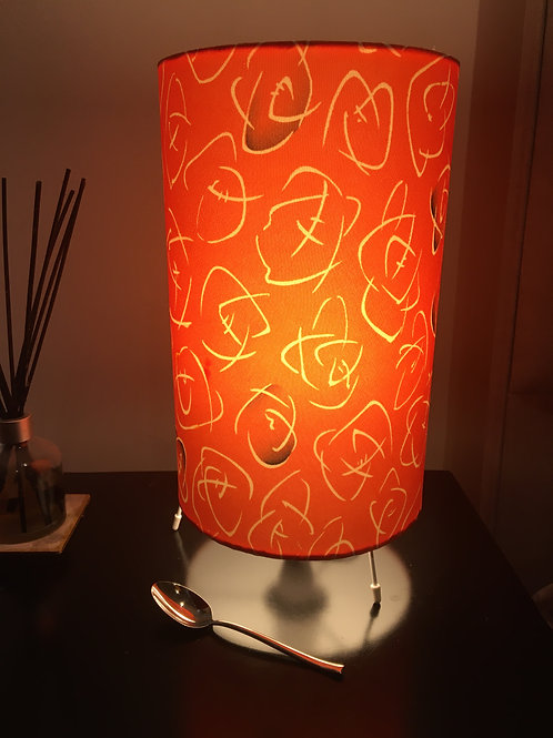 """20"""" table lamp upcycled from silk kimono fabric with UK lamp fittings/pl"""