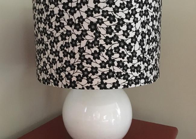 black blossom silk lampshade