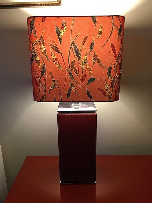 "30"" lampshade upcycled from silk kimono fabric"
