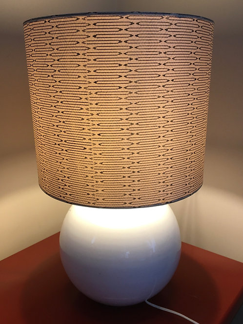 "30"" lampshade upcycled from vintage kimono fabric 1970s"