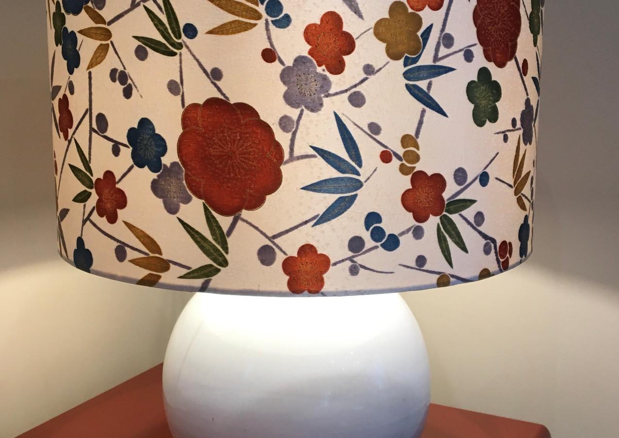 lampshade - silk kimono fabric