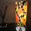 "Thumbnail: 15"" table lamp upcycled from silk kimono fabric with UK lamp fittings/plug"