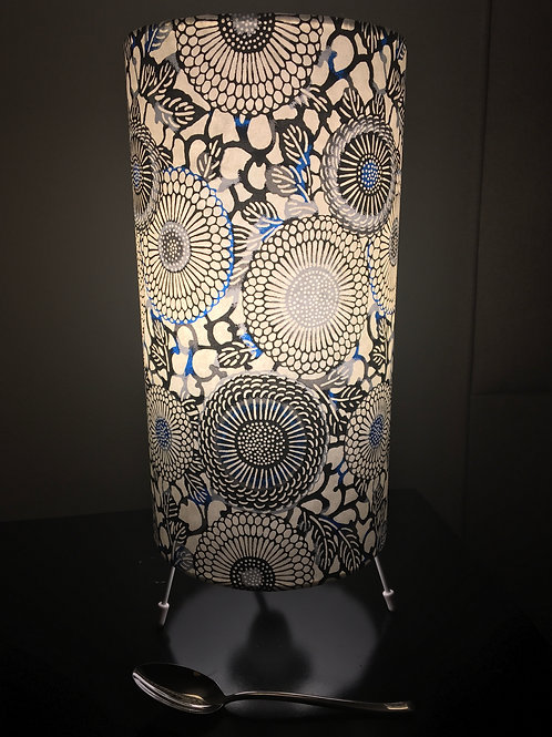 """15"""" table lamp made from Japanese washi paper with UK lamp fittings/pl"""