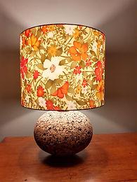Handmade silk lampshade