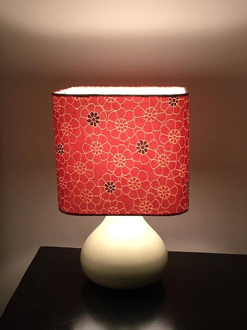 "20"" lampshade upcycled from silk kimono fabric"