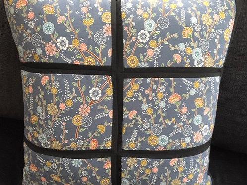 Kimono silk cushion, handcrafted from silk kimono fabric