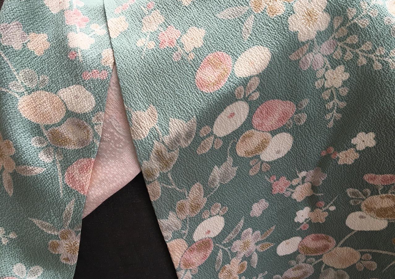 duck egg silk kimono scarf