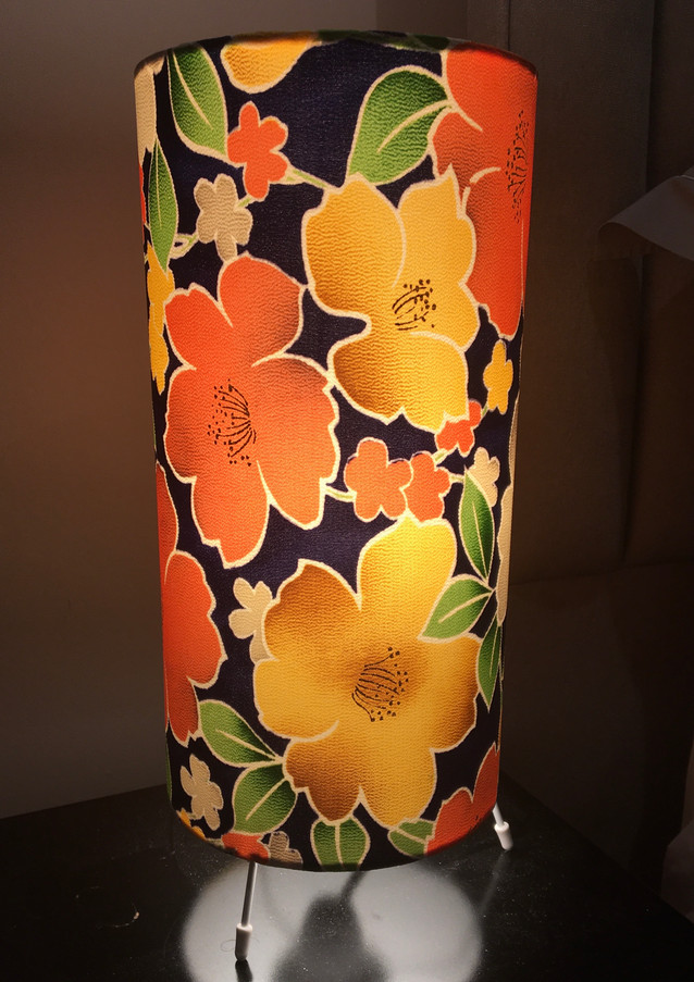 kimono fabric table lamp