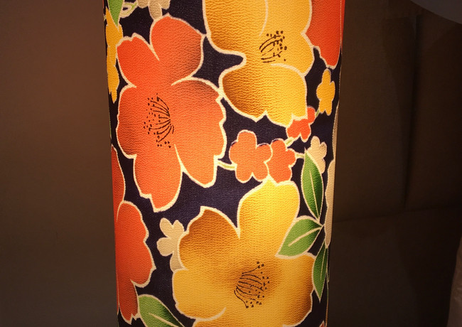 kimono fabric table lamp