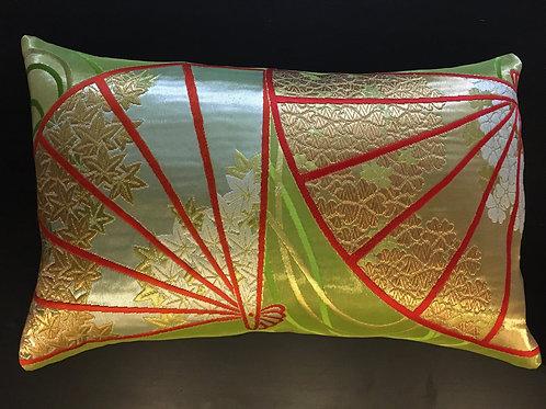 Obi sash silk cushion, handcrafted from vintage silk Japanese obi belt