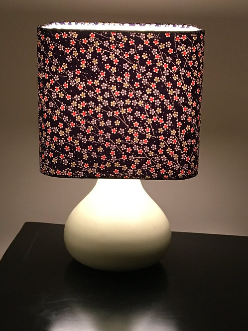 "20"" lampshade upcycled from silk kimono fabric"