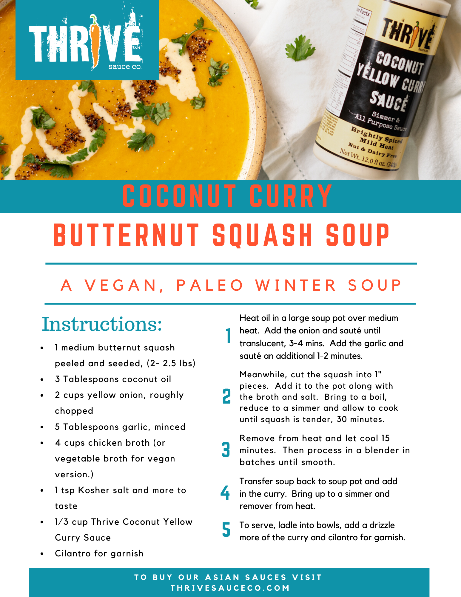 Coconut Curry Butternut Squash Soup Reci