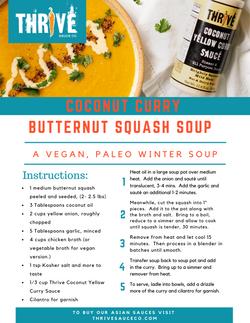 Coconut Curry Butternut Squash Soup Reci