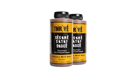 Thrive Sauce Co Asian Two Pack | Coconut Yellow Curry, Sesame Satay, Sweet Chili Lemongrass