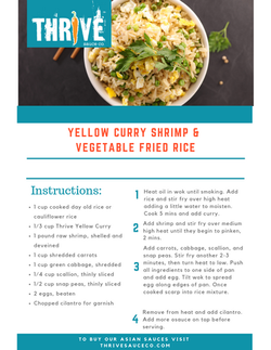 YELLOW CURRY SHRIMP & FROED RICE